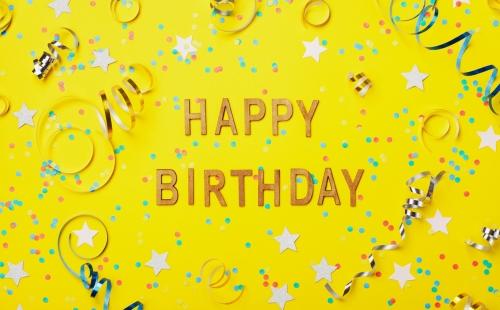 誕生 日 コメント 英語